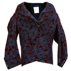 1990s Avant Garde Comme des Garçons Black Pinstriped Flocked Jacket