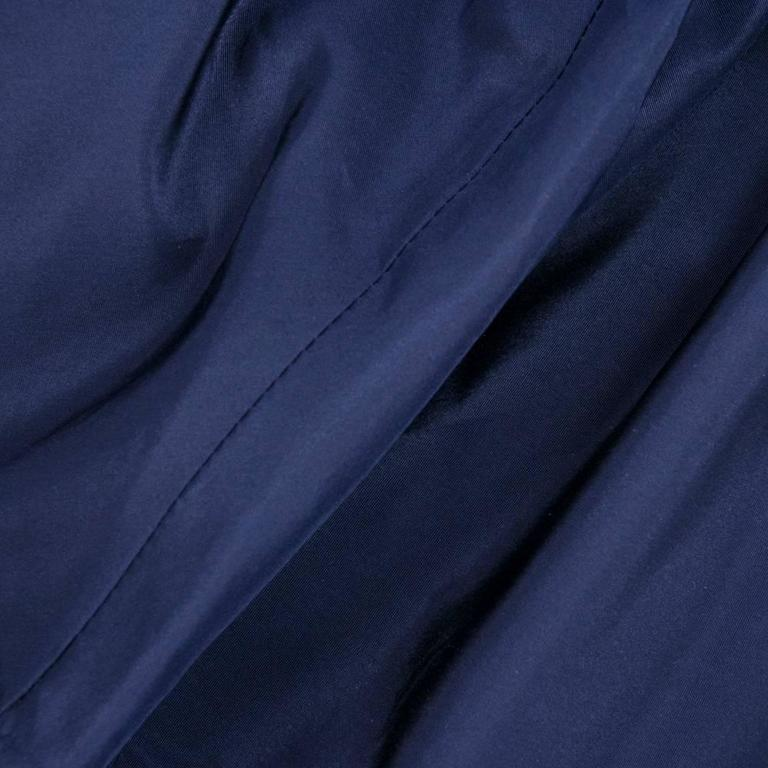 Late 50s Christian Dior - New York Midnight Blue Silk Taffeta Dress With Corsele 4