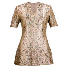 90s Tarun Tahiliani Heavily Embroidered Tunic Top