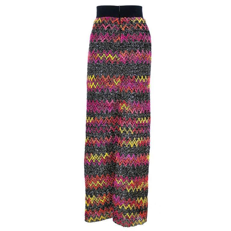 60s Pierre Cardin Zig Zag Knit Maxi Skirt 3