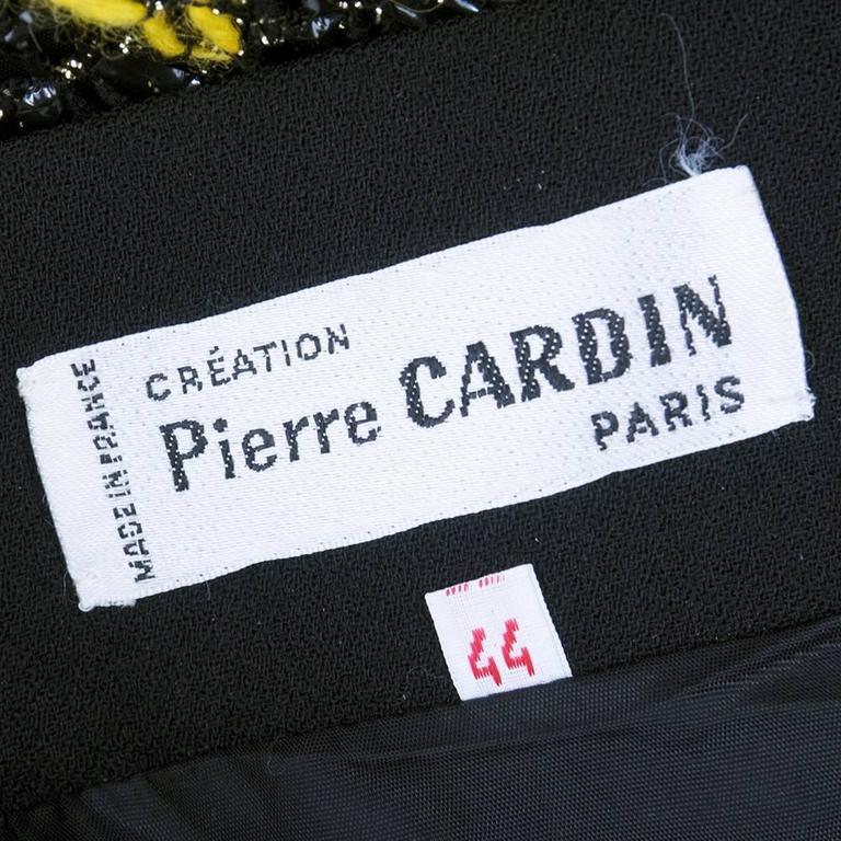 60s Pierre Cardin Zig Zag Knit Maxi Skirt 4