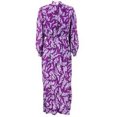 PUCCI 70s Purple Silk Floral Dress