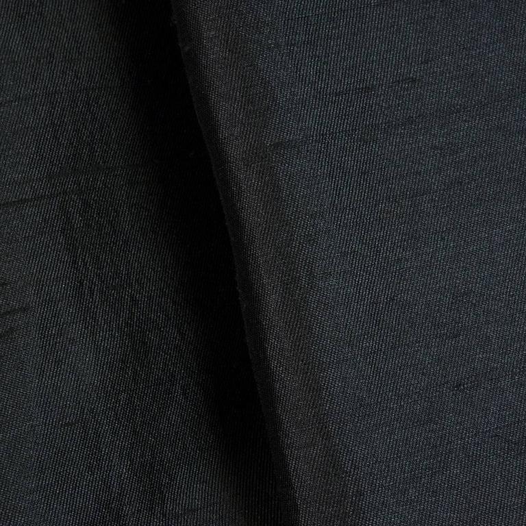 50s Christian Dior London Black Shantung Silk Cocktail Dress 6