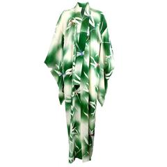 Lightweight and Sheer Green Dragonfly Kimono