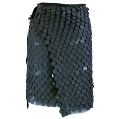 Dramatic Ann Demeulemeester Hand Brushed Wrap Skirt with Paillettes