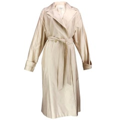 90s Feraud Lightweight Tan Trench Style Coat