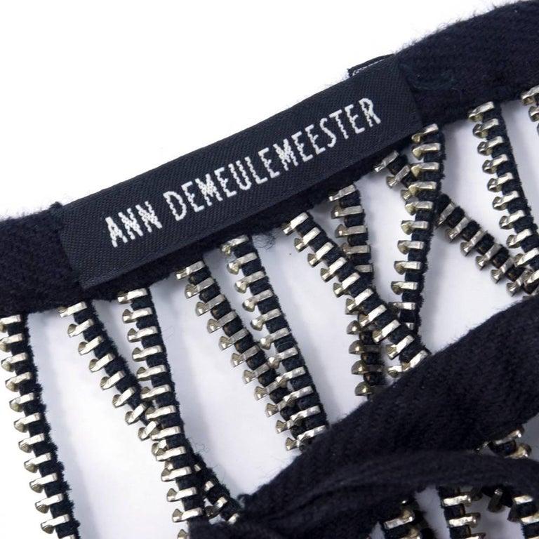 90s Ann Demeulemeester  Zipper Body Ornament 4
