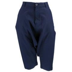 Comme des Garcons Deep Indigo Harem Cropped Pants