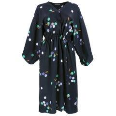 70s Halston Classic Kimono Style Wrap Dess
