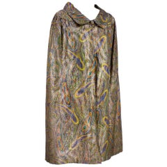 20s Lame Paisley Evening Coat