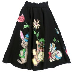 1950s Felt Circle Skirt with Whimsical Appliqués
