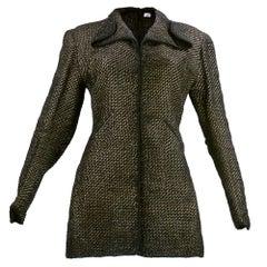 1930's Pola Stout Metallic Hand Woven Jacket
