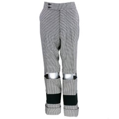 Comme des Garcons 2001 Black and White Houndstooth Pants