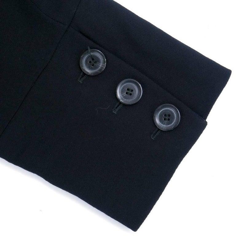Women's ANN DEMEULEMEESTER 90s Black Fleece Wool Blazer For Sale