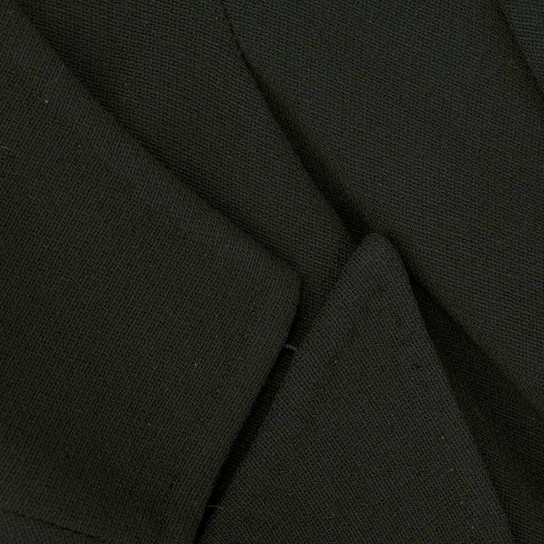 ANN DEMEULEMEESTER 90s Black Fleece Wool Blazer For Sale 2