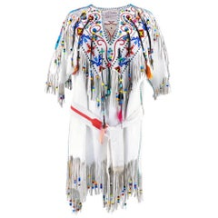 Incredible Nudie's Native American Style Leather Beaded Dress