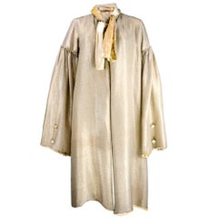 1920's Shimmering Gold Silk Lame Duster Coat