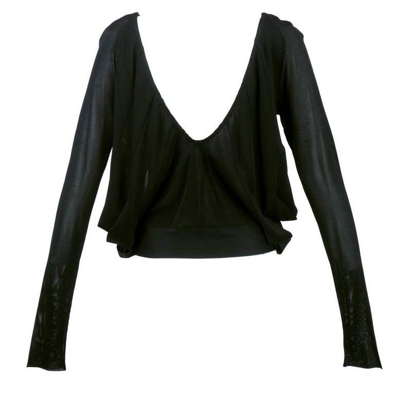 tom ford era gucci black knit pullover top for sale at 1stdibs. Black Bedroom Furniture Sets. Home Design Ideas