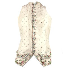 Mens 18th Century Silk Embroidered Waistcoat