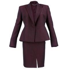 90s Gucci Deep Burgundy Power Suit