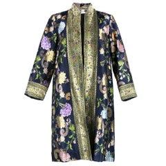 60s Profils du Monde Floral Metallic Brocade Evening Coat