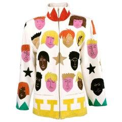 Jean Charles de Castelbajac Face Applique Jacket, 1980s