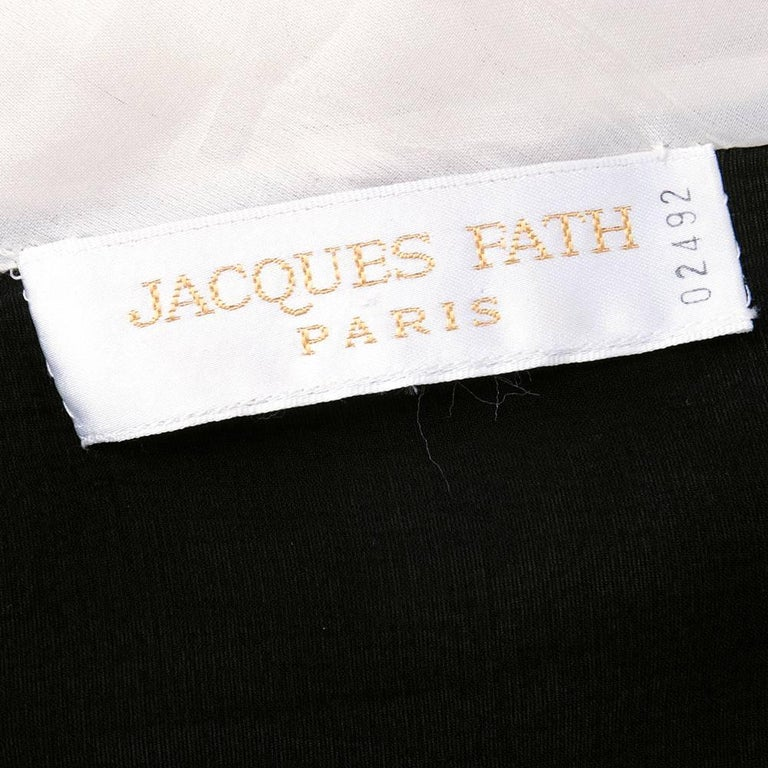 80s Jacques Fath Dramatic  Organza Black and White Blouse  5