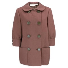 60s Norman Norell Mocha Wool Exaggerated Car Coat