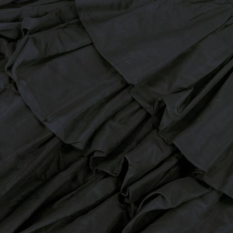 Museum Quality YSL for Dior Black Silk Taffeta tiered Bubble Skirted Dress 4