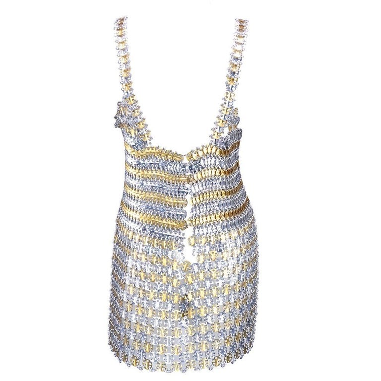 60s Paco Rabanne Metal Gladiator Mini Dress 3