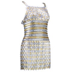 60s Paco Rabanne Metal Gladiator Mini Dress