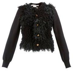 2002 Comme des Garcons Black Fuzzy Knit Cardigan