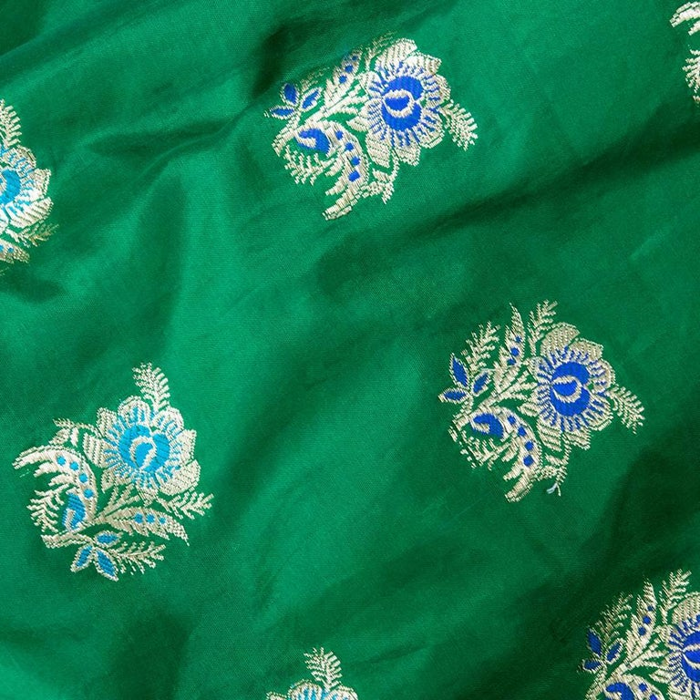Traditional Afghani Dress In Emerald Green with  Intricate Beadwork 4