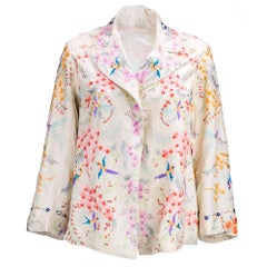 20s Chinese Silk Floral Embroidered Jacket