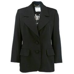 90s Moschino Couture Black 'Which Witch' Blazer