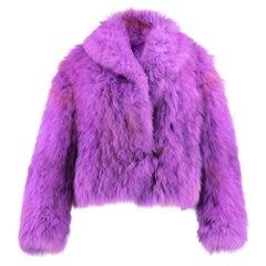 90s Purple  Fox  Chubbie Jacket