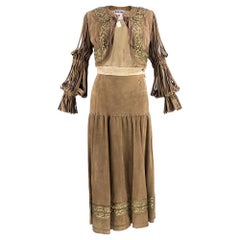 90s Moschino Buttery Soft Suede Western Ensemble