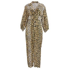 The Best 80s Patrick Kelly Leopard Print Oversized Belted Jumpsuit