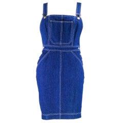 90s Patrick Kelly Denim Overall Mini Dress