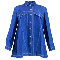 90s Patrick Kelly Blue Denim Swing Coat