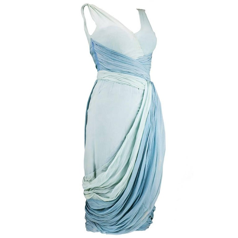 1950s Jean Desses Chiffon Cocktail Dress from the Collection of Dita Von Teese 2