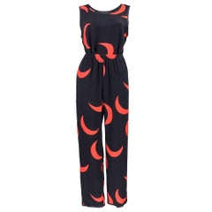 YSL for  Rive Gauche Black and Red Crescent Moon Summer Ensemble