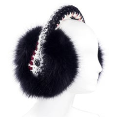 Chanel 1990s Chic Crochet and Fur Winter Earmuffs