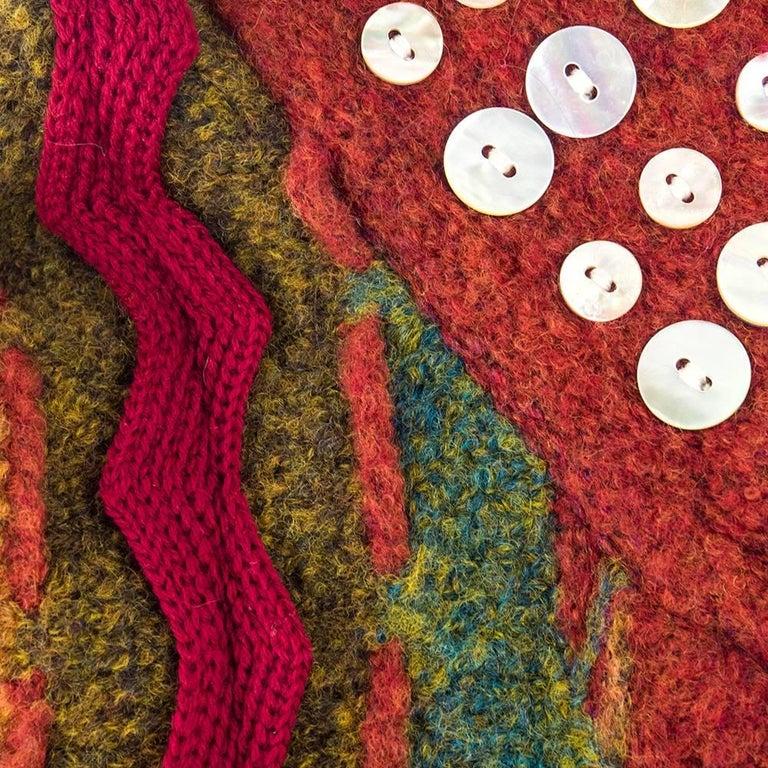 Women's 90s Christian Lacroix Festive Mixed Media Knit Cardigan For Sale