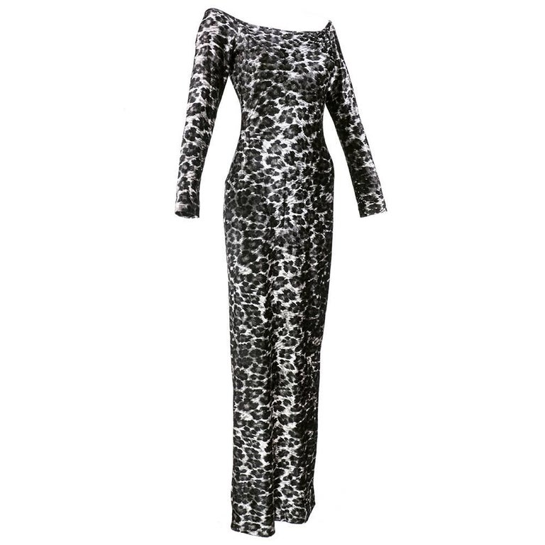 80s Patrick Kelly Iconic Leopard Stretch Velvet  Body Con Dress 2