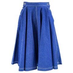 80s Patrick Kelly Denim Circle Skirt