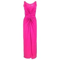 Valentino Hot Pink Silk Crepe Goddess Gown