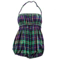 50s Claire McCardell Plaid Cotton Playsuit