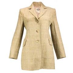90s Hermes Wool Equestrian Style Blazer