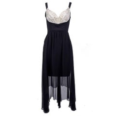 Lagerfeld Silk Party Dress with Embellished Bodice